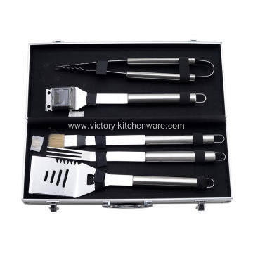 5pcs BBQ Tool Set with aluminum case